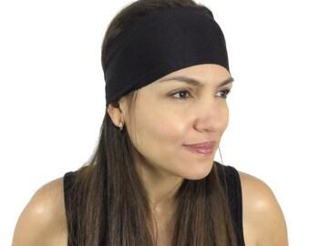 Yoga Headband Black Headband Fitness Headband Workout Headband Wide Headband No Slip Headband Gym Gear Women Headband Wicking Headband S9