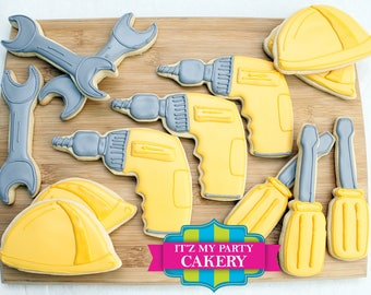 Construction Tool Cookies (1 Dozen)