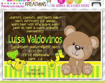 537: DIY - Teddy Bear Party Invitation Or Thank You Card