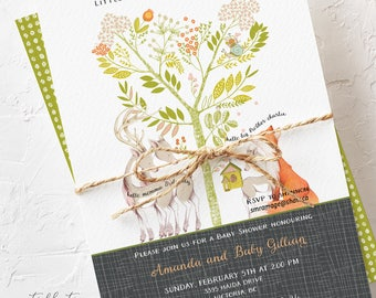 Baby Shower Invitations - Woodlands Theme (Style 13725)