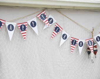 Nautical Party Birthday Banner- Printable