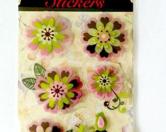 Pink 3D flower sticker