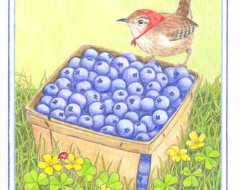 Blueberry Harvest Note Card