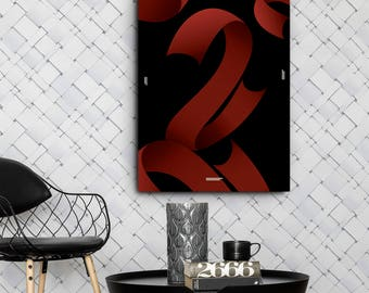 Red Ribbons Canvas Wall Art
