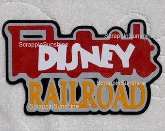 DISNEY RAILROAD Die Cut Title Scrapbook Page Paper Piece - SSFF