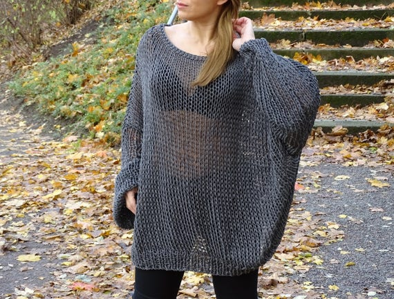 pullover knit loose oversized to sweater tunic sweater oversized knit made sweater long sweater oversized slouchy sleeves order knit 6qaHR