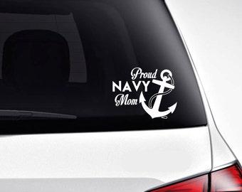 Navy Mom 5 Inch Window Decal