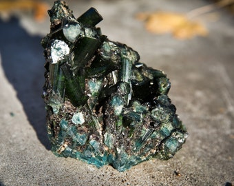 Indicolite and Green Tourmaline Cluster Specimen - Blue Tourmaline - Indicolite - Green Tourmaline Blue Tourmaline Cluster - Indicolite