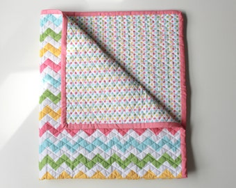 Quilted Pram or Cot Blanket