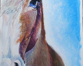 Acrylic Horse Painting