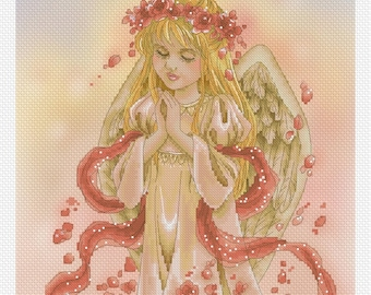 Cross stitch Chart Pattern -  Aurora's Wings by Mitzi Sato-Wiuff