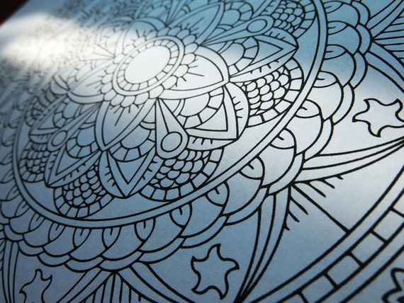 Mindfulness Coloring Pages Pdf : Mandala coloring page forever unfolding printable coloring