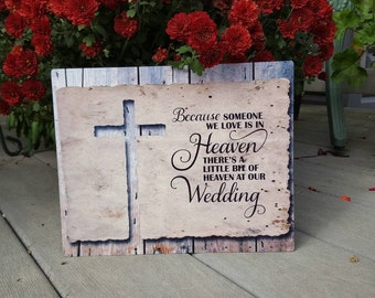 memorial wedding sign, in loving memory wedding sign, memorial table sign, remembrance sign, in memory of wedding table decor rustic wedding