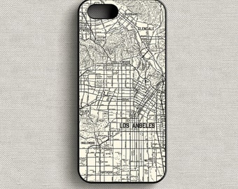 Vintage Map of Los Angeles California Phone Case iPhone 5 5C 6 6+ 7 7+