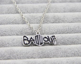 """Doctor Who """"Bad Wolf"""" Necklace"""