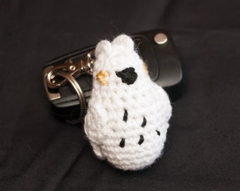Mini Snow Owl Keychain