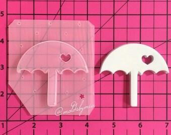 ON SALE Lovely umbrella flexible plastic resin mold