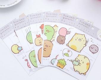 Sumikko Gurashi Friends Deco Washi Stickers ~ Japanese Cartoon Stickers, Scrapbooking, Diary Planner Album Sticker, Stationery, Collage, DIY