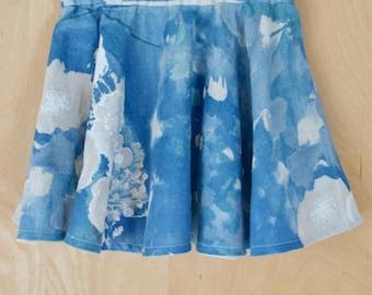Circle skirt girl in cotton-linen Nani Iro, size 5T skirt girl skirt small girl