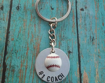 Baseball Coach Keychain - Baseball - Coach's Gift - Gift for Coach - Thank You Gift for Coach - Team Party Gift - Sports Keychain - Baseball
