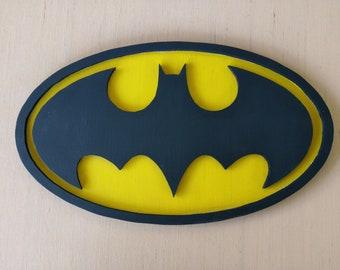 Handmade Wooden Batman Logo