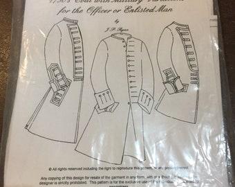 1750s Military Coat pattern