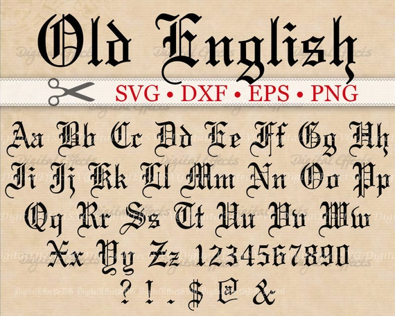 Old english monogram svg font gothic letters svg dxf eps old english monogram svg font gothic letters svg dxf eps png files old english font letters numbers silhouette cut files cricut thecheapjerseys Choice Image