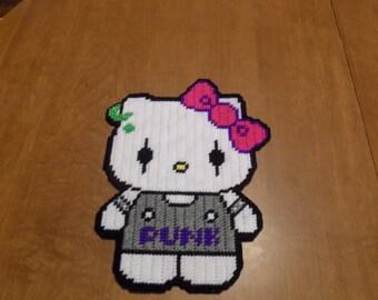 punk hello kitty wall hanging