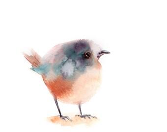 Minimalist bird painting, ORIGINAL Watercolor Painting, Minimalist Painting, Birdie Painting, Bird Art