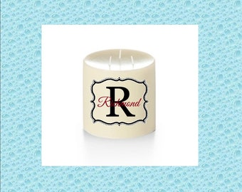 Personalized Candles (INITIAL COLLECTION) - Custom Candles - Friendship - Teachers - Wedding - BFF - Baby Gift - Father's Day - Mother's Day