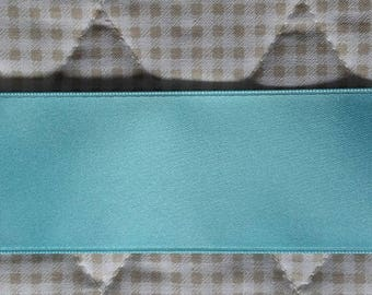 Ribbon SATIN Double sided TURQUOISE 40 mm (4cm) for sale by the yard