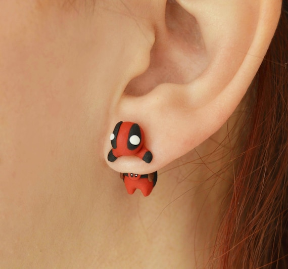 Deadpool Earrings - Baby Deadpool in Your Ear Hole