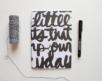 travel journal, writing journal, sketchbook journal, prayer journal, typography journal, typography notebook, inspirational, cute notebook