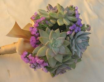 Wedding bouquet, Succulent bridal bouquet