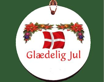 Denmark Christmas Porcelain Ornament