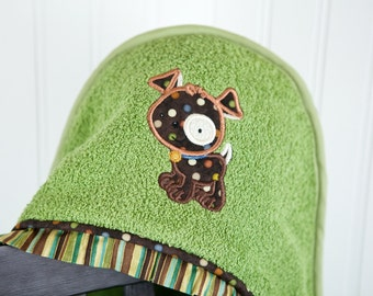 personalized puppy dog hooded towel many colors