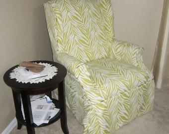 Wingback Chair Custom Slipcover