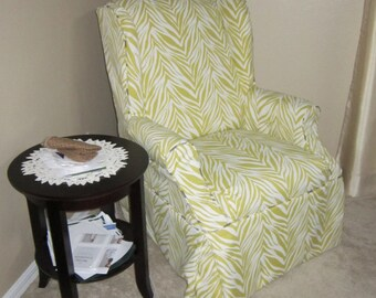 Wingback Chair Custom Slipcover