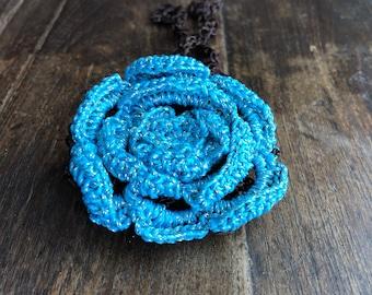Dream in Blue Hair Bun