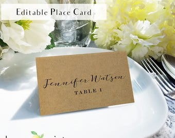 Place Setting Cards Etsy - Place card setting template