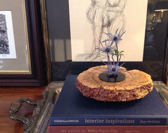 Warren Vienneau Burl Ikebana Vase, Burl Sculpture, Signed, 1998