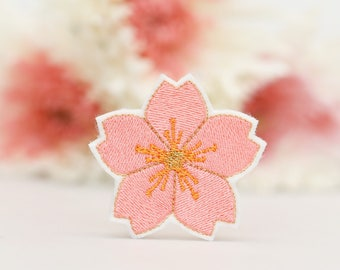 Flower Patch - Cherry Blossom - Sakura - Iron On - Embroidered Applique