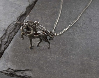Vintage Unicorn Necklace
