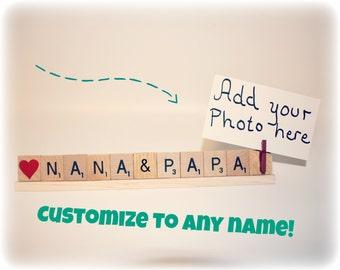 Nana and Papa, Mimi and Papa, Grandma and Grandpa, Grandma & Grandpa Gift, Grammy Photo,  Papa Gift, Dad Gift, Mom Gift, Sis Gift, Nana, Bro