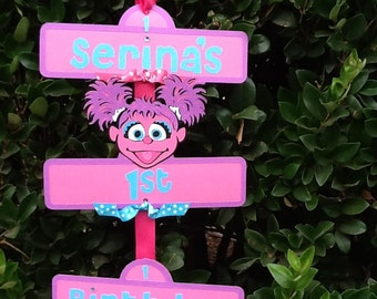 Sesame Street Party Sign with Abby Cadabby