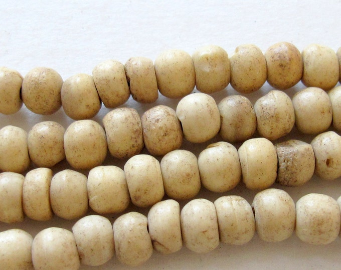 25 Beads- Small size Tibetan small size spacer bone beads - NB022