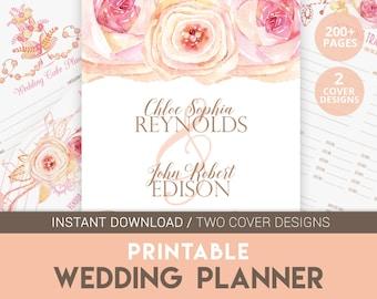 DIY Wedding Planner | Wedding Planner | Engagement Gift | Wedding Budget | Printable Wedding | Wedding Organizer | Pink Wedding