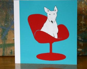 Mastermind Bull Terrier Card Chic Minimalism