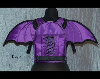 Gothic Bat Backpack Heart Wings Punk Lolita School Bag