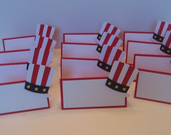 Fourth of July Place Cards 12  / Fourth of July Tent Tags / Fourth of July Food Labels / 4th of July Place Cards / Memorial Day Place Cards